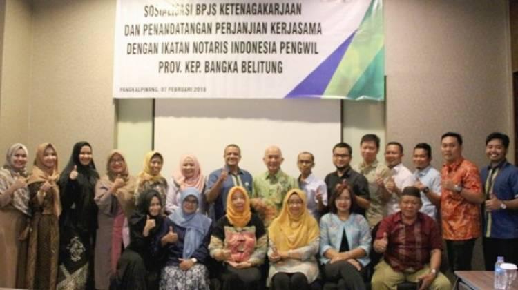 BPJS Ketenagakerjaan Pangkalpinang Jalin Kerjasama dengan Ikatan Notaris Indonesia